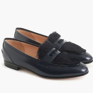 Jcrew Academy loafers w/fur